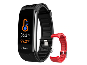 Media-Tech MT866 Active-Band Temperature Smartwatch, schwarz