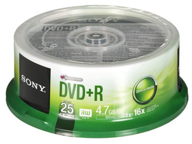 Sony 25DPR47SP DVD+R 16x