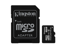 Kingston microSDHC kártya 8GB Class10 UHS-I Industrial + SD adapter