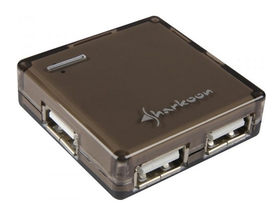 Sharkoon Square 4port USB2.0, černy