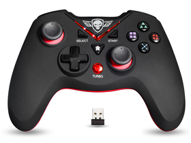 Spirit of Gamer Gamepad wireless - XGP WIRELESS Red compatibil PC si  PS3, negru-rosu