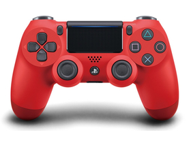 PlayStation 4 (PS4) Dualshock 4 V2 Wireless (kabelloser) Controller, rot