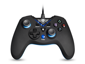 Spirit of Gamer Gamepad - XGP WIRED Blue PC si PS3, negru/albastru