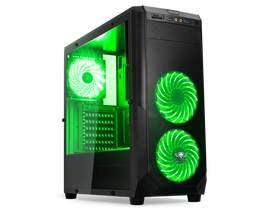 Spirit of Gamer ROGUE 1 Green PC skrinka