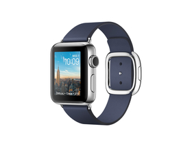 Apple Watch Series 2 Midnight Blue, curea cu catarama, 38mm, marime S (mnp82mp/a)