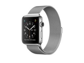 Apple Watch Series 2, 38mm Stainless Steel Case with Silver Milanese Loop (mnp62mp/a)