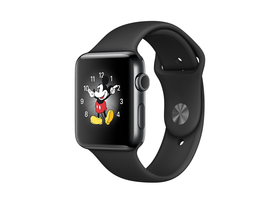 Apple Watch Series 2, 38mm éjfekete rozsdamentes acél tok éjfekete sport szíjjal (mp492mp/a)
