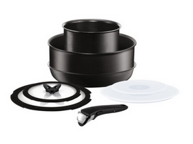 Set de vase Tefal L6509272 Ingenio Black , 8 buc.