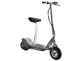 Razor - E300S Electric Scooter Seated, grey