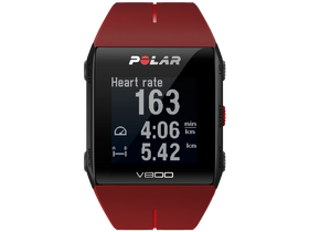 Polar V800 HR  bordo/negru