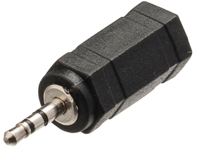Valueline VLAB21930B audioadapter - 2,5mm dugasz, 3,5mm aljzat, fekete