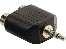 Valueline VLAB22940B audioadapter 3,5 mm dugasz, 2 db RCA aljzat, fekete