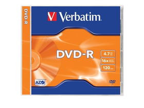 Verbatim DVD-R 4,7 GB, 16x, toc normal
