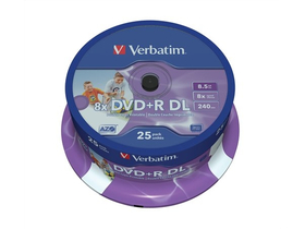 "DVD+R Disk Verbatim 8,5 GB, 8x,dual layer Disk ""Double Layer"",25 kom"