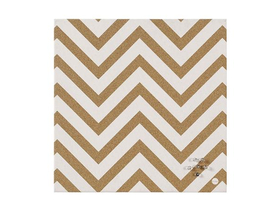 "Victoria ""Chevron Cream"" Message-Board, 40x40cm"