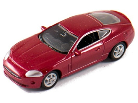 Welly Jaguar XK Coupe červený model auta, 1:60-64