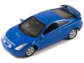 Welly Toyota Celica 2002 modrý model auta, 1:60-64