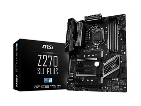 Дънна платка MSI  S1151 Z270 SLI PLUS Intel Z270, ATX