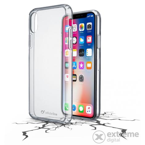 1d6f20202cc0 CellularLine Clear Duo ütésálló tok iPhone X készülékhez, átlátszó ...