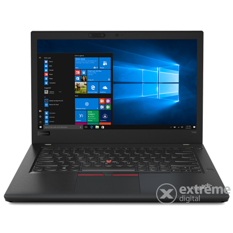 Lenovo ThinkPad T480 20L50003HV Touch notebook, fekete + Windows 10 Pro