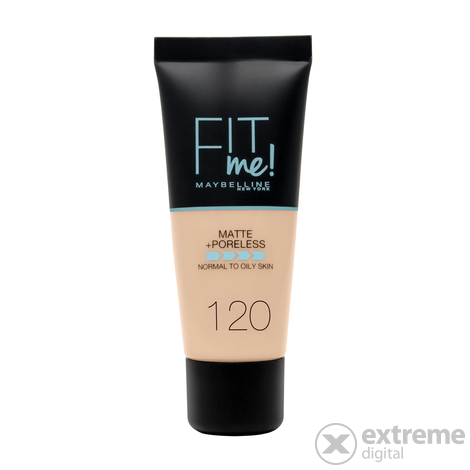 Maybelline Fit Me! Matte & Poreless Alapozó, 120 Classic Ivory, 30 ml