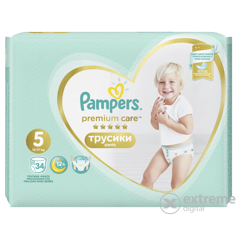Pampers Premium Care Value Pack bugyipelenka 5-ös méret, 34 db