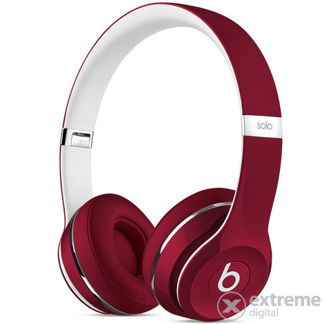 Слушалки Beats by Dr. Dre Solo2   (Luxe Edition), червени