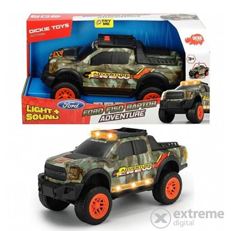 Dickie Toys Action Ford F150 Raptor Adventure kisautó, 33 cm