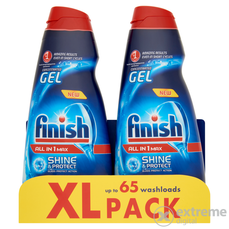Finish All in 1 Max gépi mosogatógél, 2x650 ml, 1300 ml
