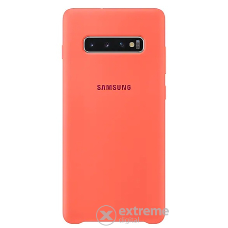 MOBIL TOK Samsung Galaxy S10+ Silicone Cover, Hibiscus - [Újszerű]