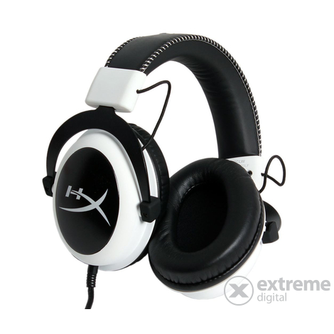 HyperX Cloud gamer headset, fehér (KHX-H3CLW)