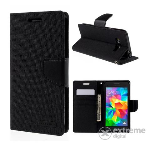 Mercurycase Canvas Diary álló tok Samsung Galaxy Grand Prime (SM-G530F) készülékhez  fekete