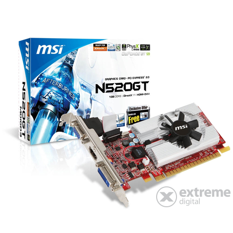 Placă video MSI N520GT-MD1GD3/LP 1TB DDR3 PCIe