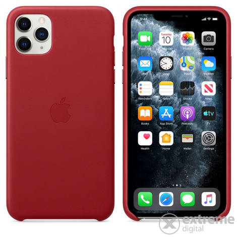 Apple iPhone 11 Pro Max usnjen ovitek, rdeč (mx0f2zm/a)