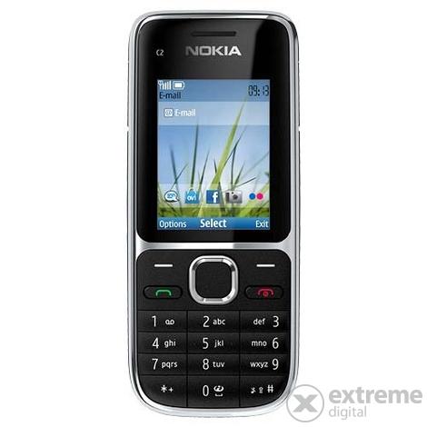 Nokia C2-01 mobiltelefon, Black + T-Mobile Domino Quick SIM