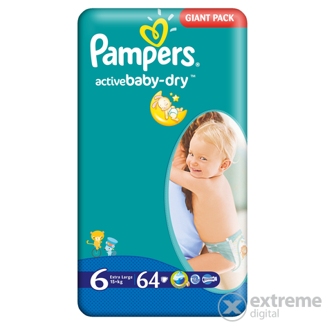 Pampers Active Baby pelene 6, 64 komada