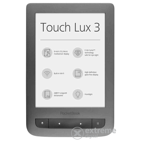 E-book четец PocketBook Touch Lux 3 626,сив