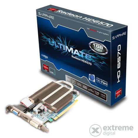 Placă video Sapphire Ati HD6570 Ultimate 1GB DDR3 PCIe