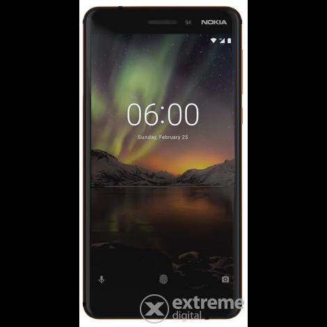 nokia 6 1 dual sim smartphone ohne vertrag black android. Black Bedroom Furniture Sets. Home Design Ideas