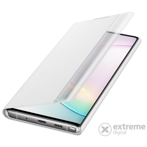 Samsung Galaxy Note 10+ clear view cover, fehér