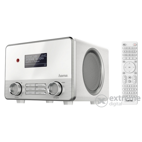 Hama IR111 Digital Radio/Internet Radio/Multiroom, fehér
