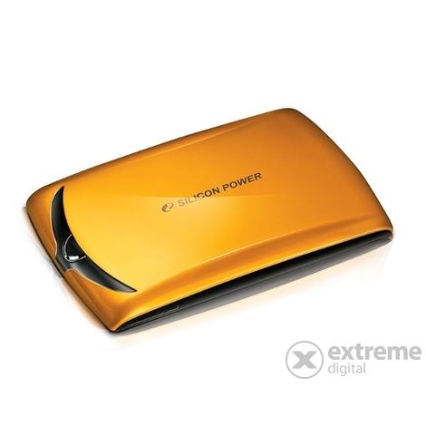 """Silicon Power Stream S10 (SP010TBPHDS10S3O) 1TB 2.5"""" USB 3.0 narancs külső merevlemez"""