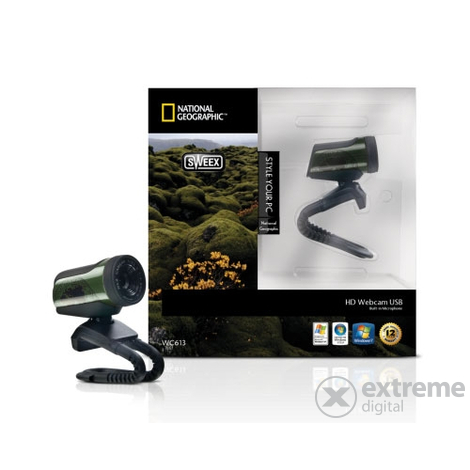 Sweex HD USB WC613 National Geographic webová kamera, zelená