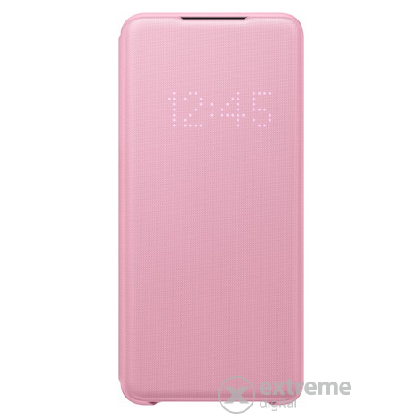 Samsung Galaxy S20+ LED view cover tok, pink - [Bontott]