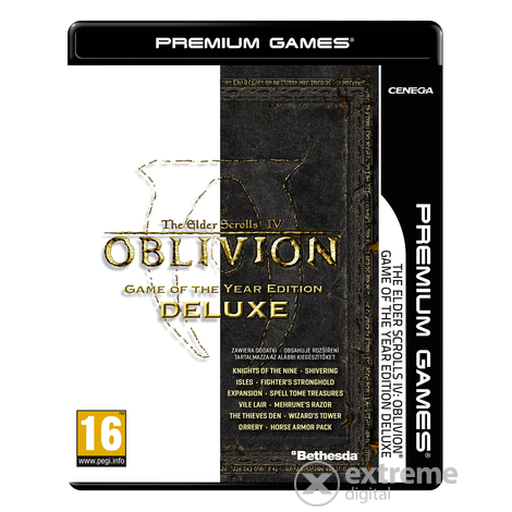The Elder Scrolls IV: Oblivion Game Of The Year Deluxe NPG PC szoftver