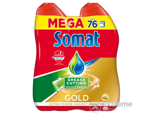 Somat Gold Gel Anti-Grease Lemon gépi mosogatógél, 2x684ml