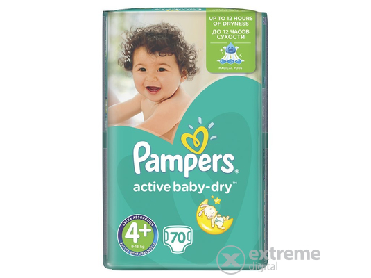 Pampers Active Baby-Dry Pelenka 4+ Maxi+ (70db)