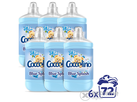 Coccolino Blue Splash öblítő, 6x1800ml