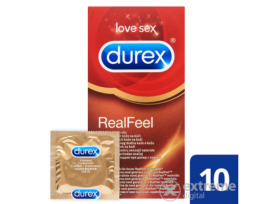 Durex Real Feel óvszer, 10 db