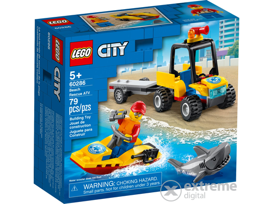 LEGO®  City Great Vehicles 60286 Tengerparti mentő ATV jármű
